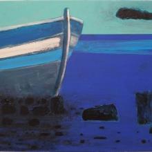 Stranded, acrylics on canvas, 47x55cm