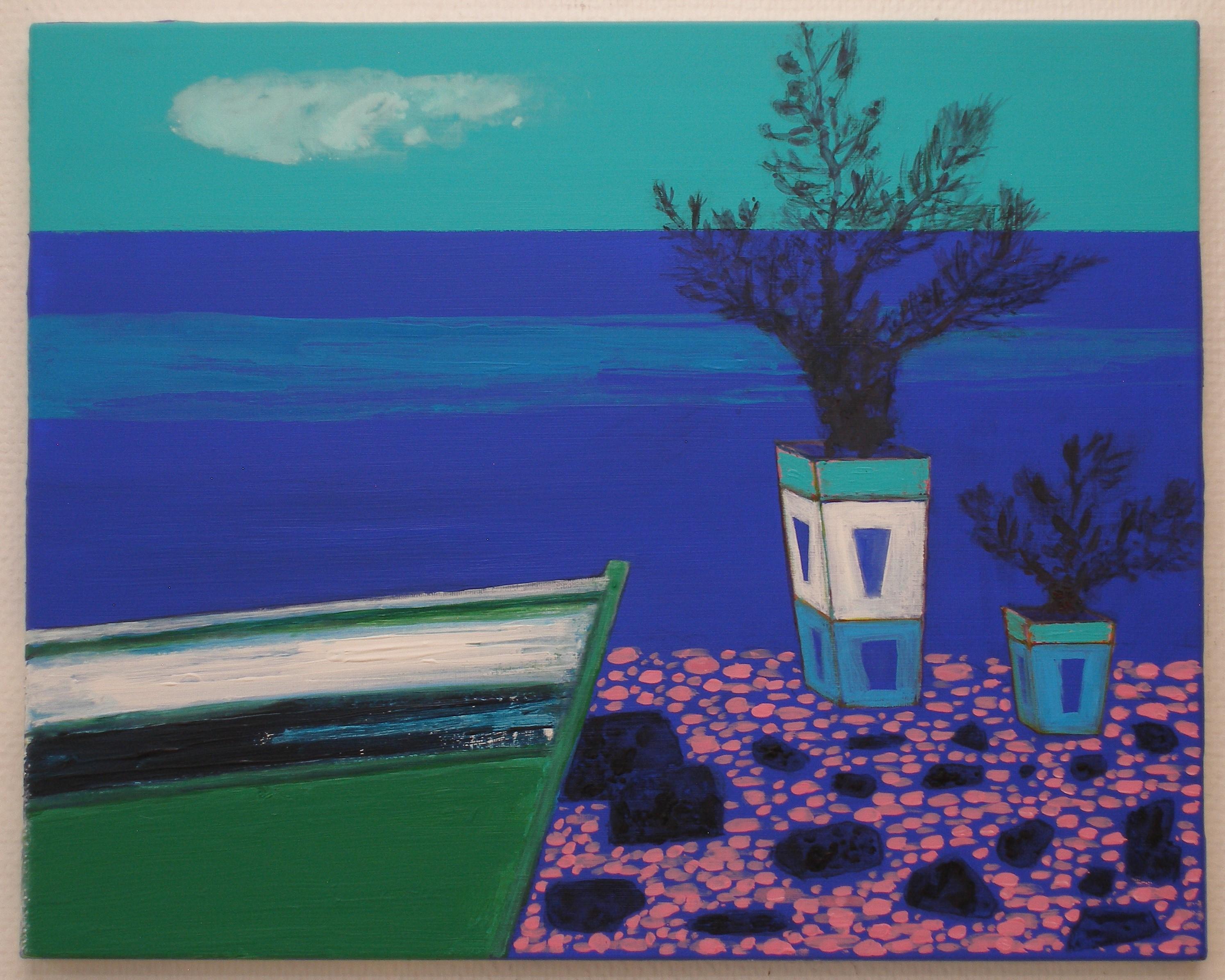 Shoreline 1, acrylic on canvas, 40x50cm