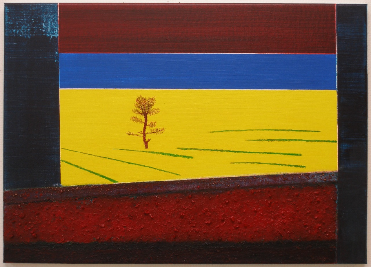 View II, acrylics - mixed media on canvas, 50x70cm