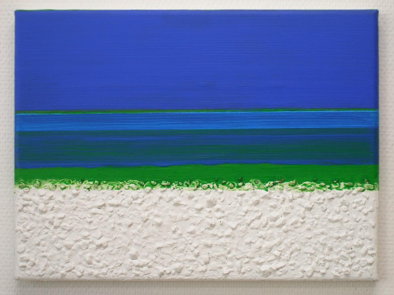 Blue moods I, acrylics - mixed media on canvas, 30x40cm