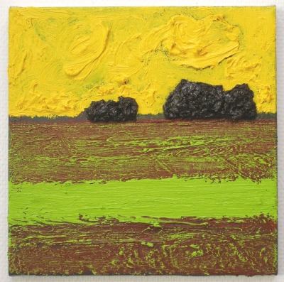 Soil/rest, oil-mixedmedia on canvas, 30x30cm