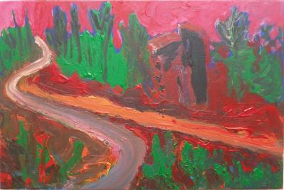 Paths 1, acrylics on canvas, 40x60cm