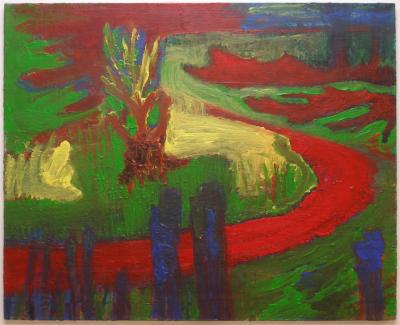 Paths 3, acrylics on canvas, 80x100cm
