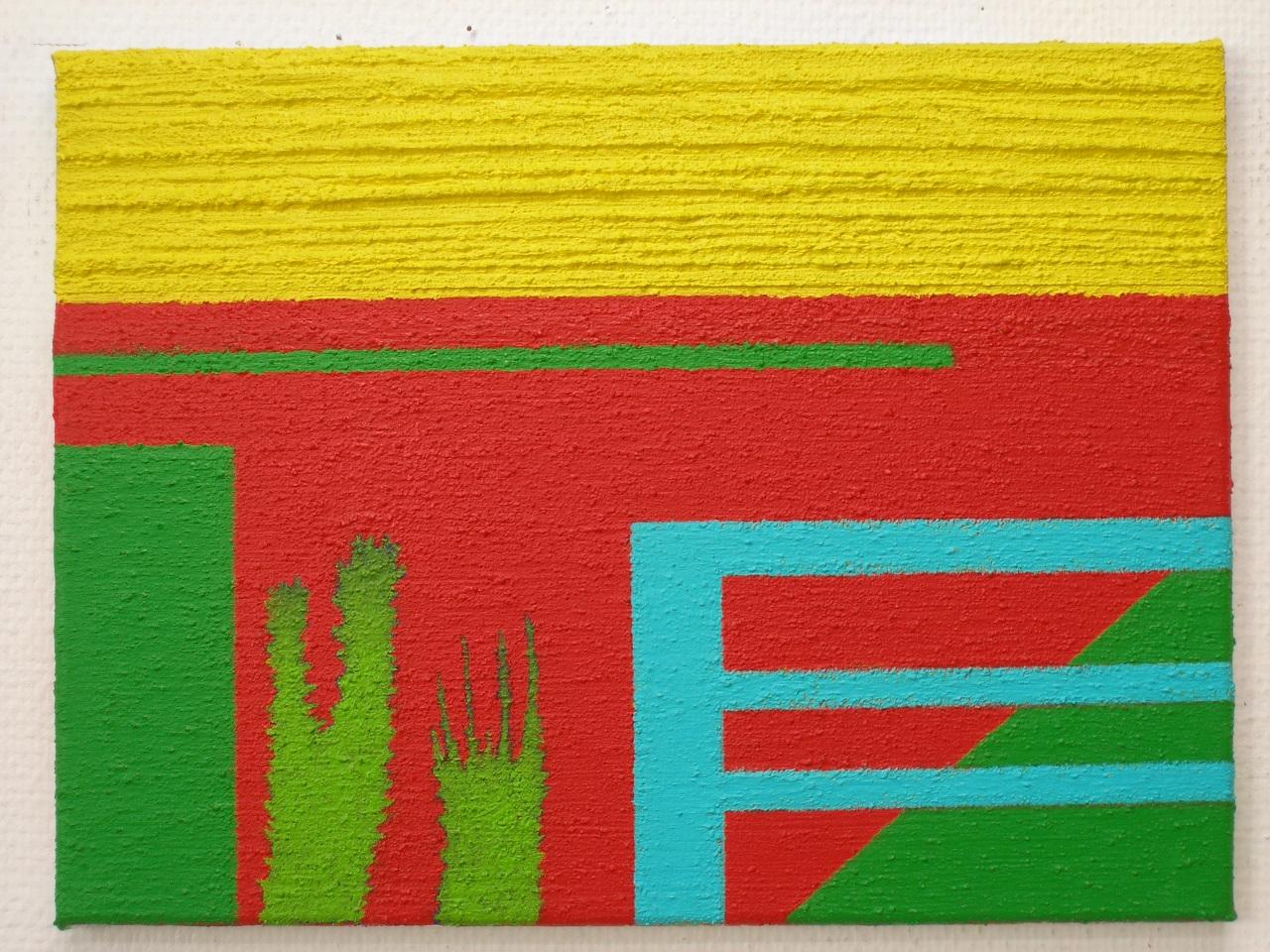 Untitled 4, acrylics-mixedmedia on canvas, 30x40cm