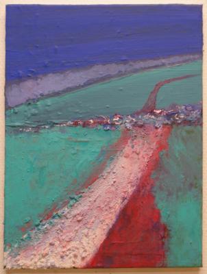Paths 5, acrylics-mixedmedia on canvas, 40x30cm