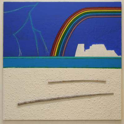 Elements of Nature, acrylics-mixedmedia on canvas, 90x90cm